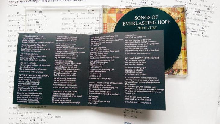 letras de disco en una carátula