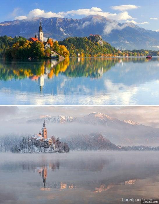un lugar en el Lago Bled de eslovenia