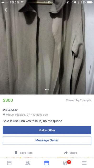camisa en venta en facebook