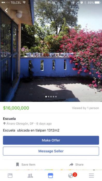 escuela en venta en facebook