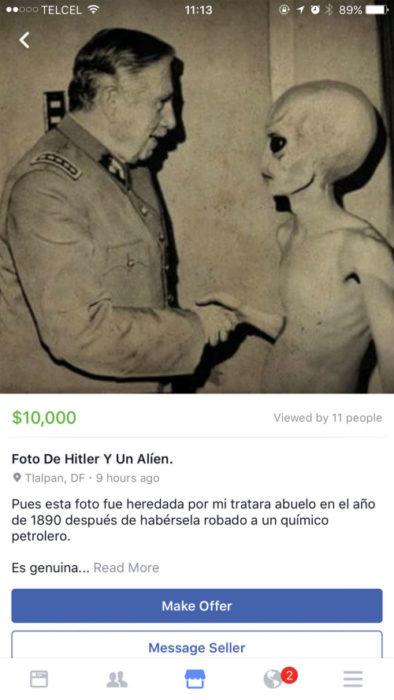 fotografía histórica en venta en redes sociales