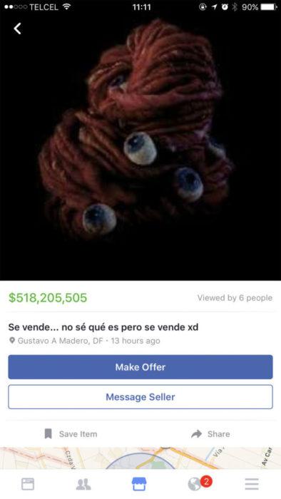 cosas raras en venta a través de facebook
