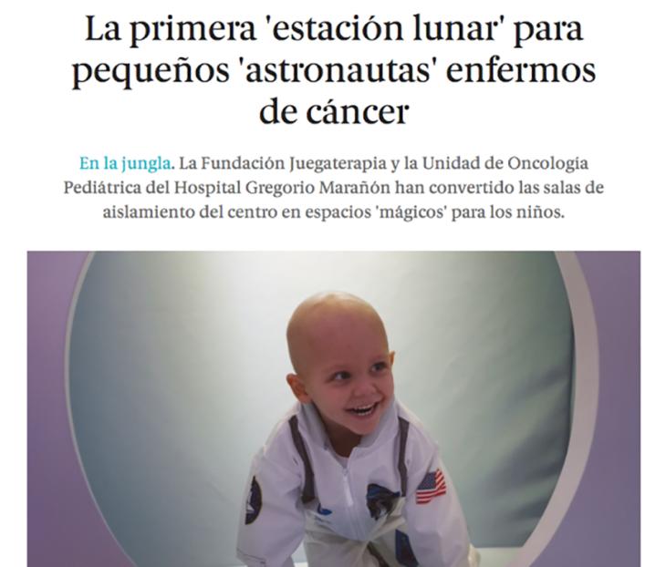 niña con cáncer en hospital