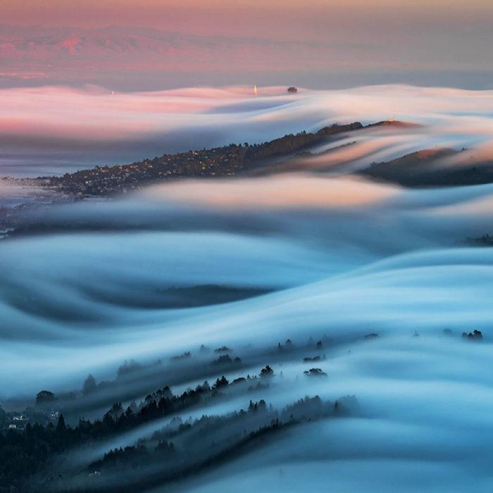olas de niebla impresionantes