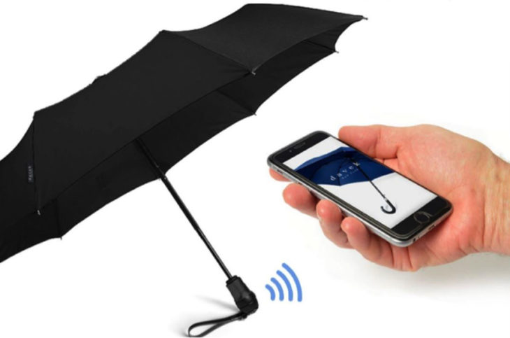 paraguas que se conecta al celular