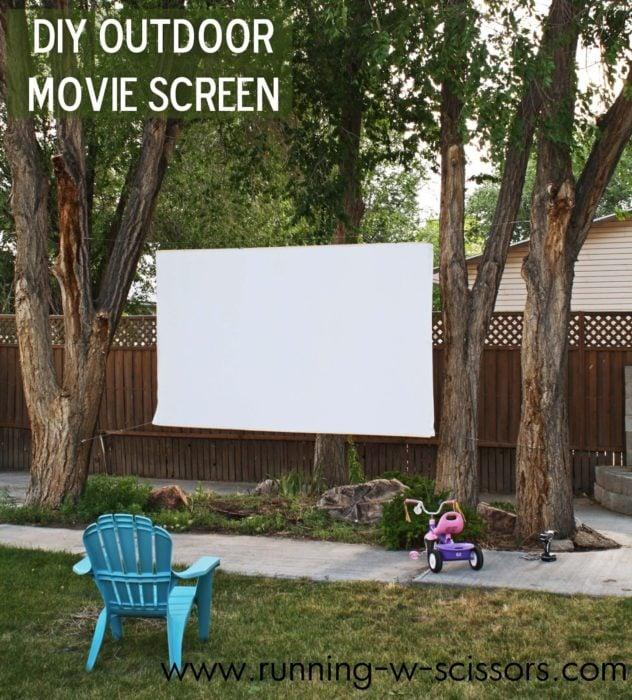 pantalla para proyeccion exterior
