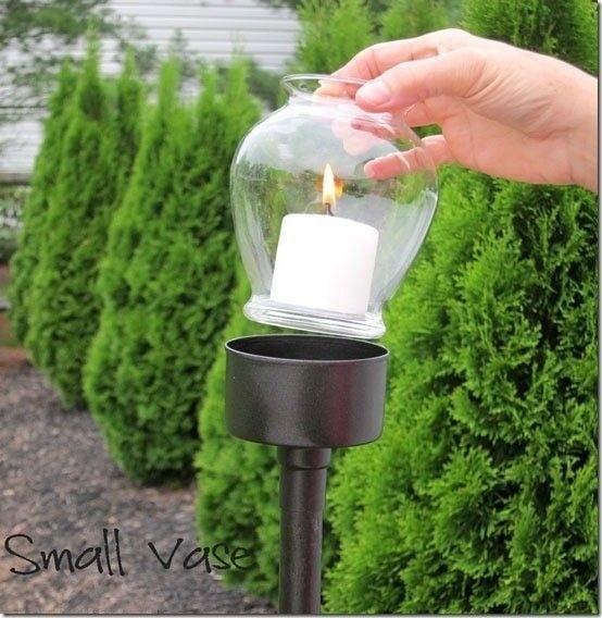 lampara de jardin romantica