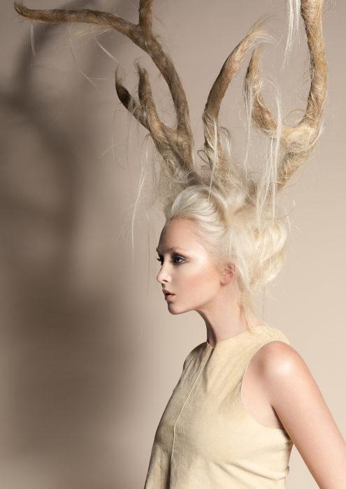 el peinado de los renos de papá noel