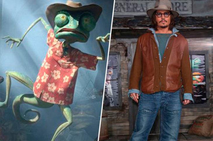 Rango y Johnny Depp