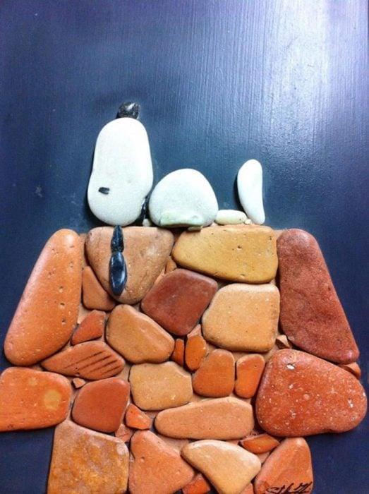 snoopy de piedra