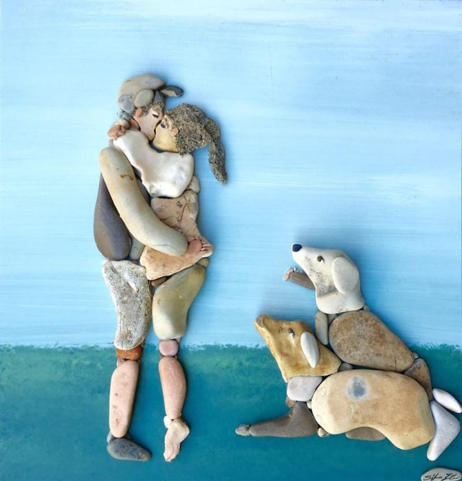 arte con piedras de playa