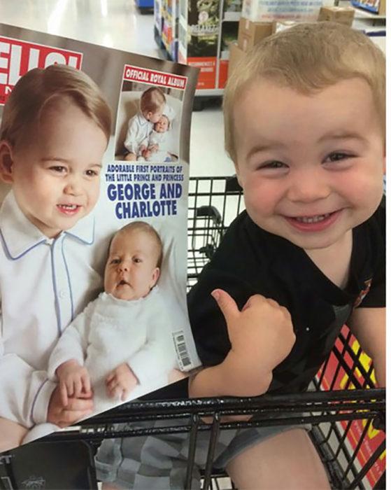 bebé que se parece al hijo del príncipe william