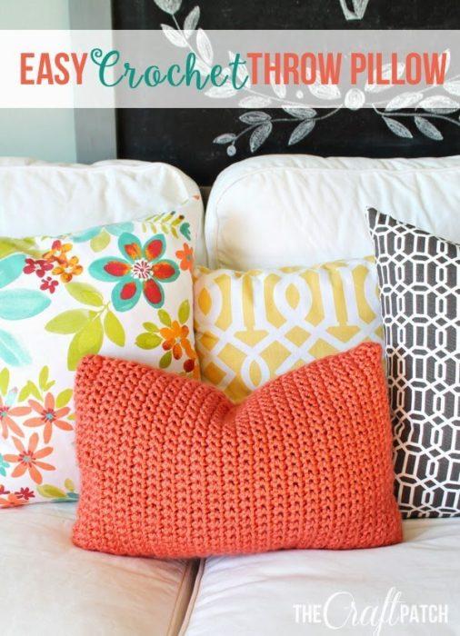 funda tejida para almohada