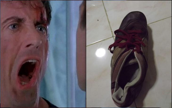 sylvester stallone y un zapato viejo