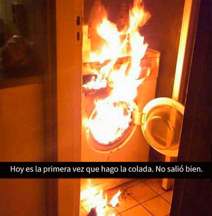 estufa quemándose