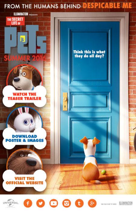 póster de película la vida secreta de las mascotas