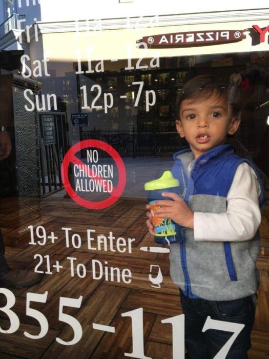 niño rompe las reglas