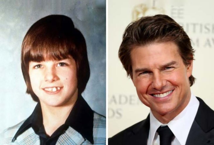 tom cruise adolescente y actualmente