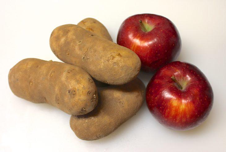 patatas y manzanas