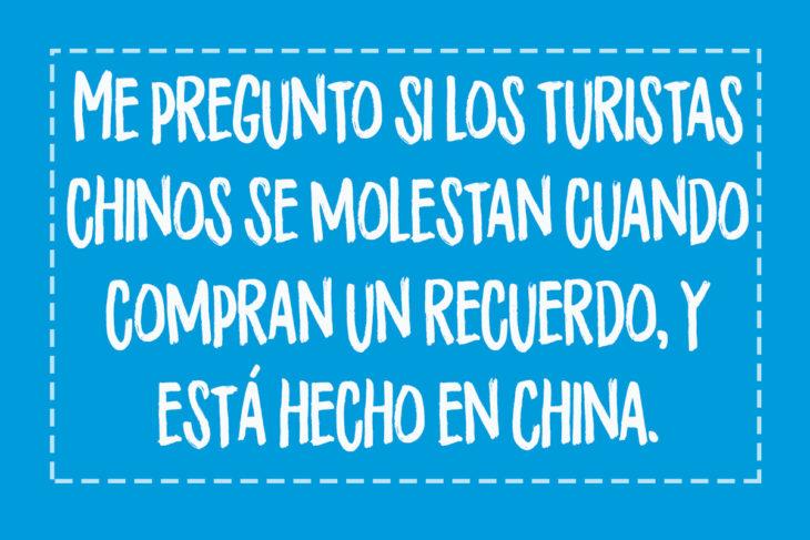 pensamiento de adolescentes turistas chinos