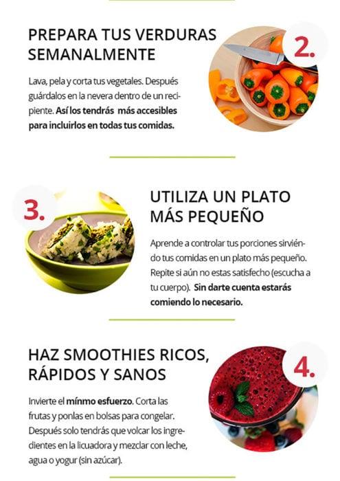 infografía sobre alimentación saludable parte 2