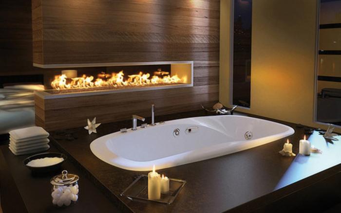 10 cosas casa ideal chimenea en el baño