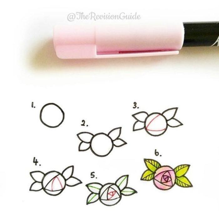 dibujar rosas pequeñas