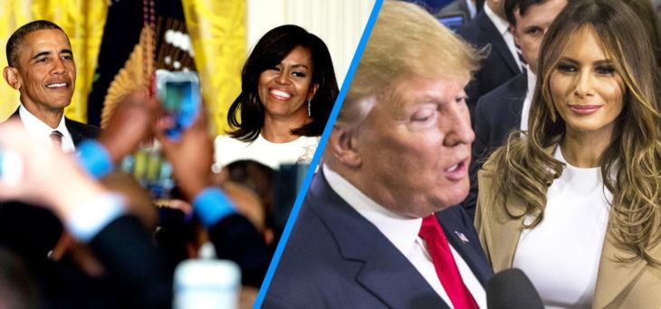 barack y michelle versus trump y melania en público