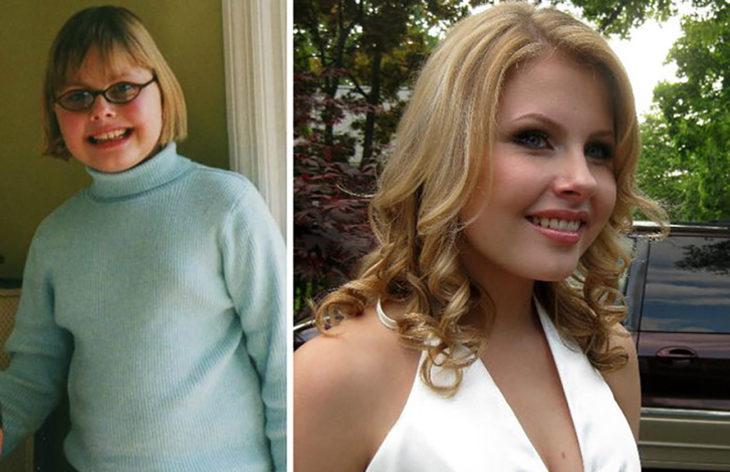 mujer embellece después de la pubertad
