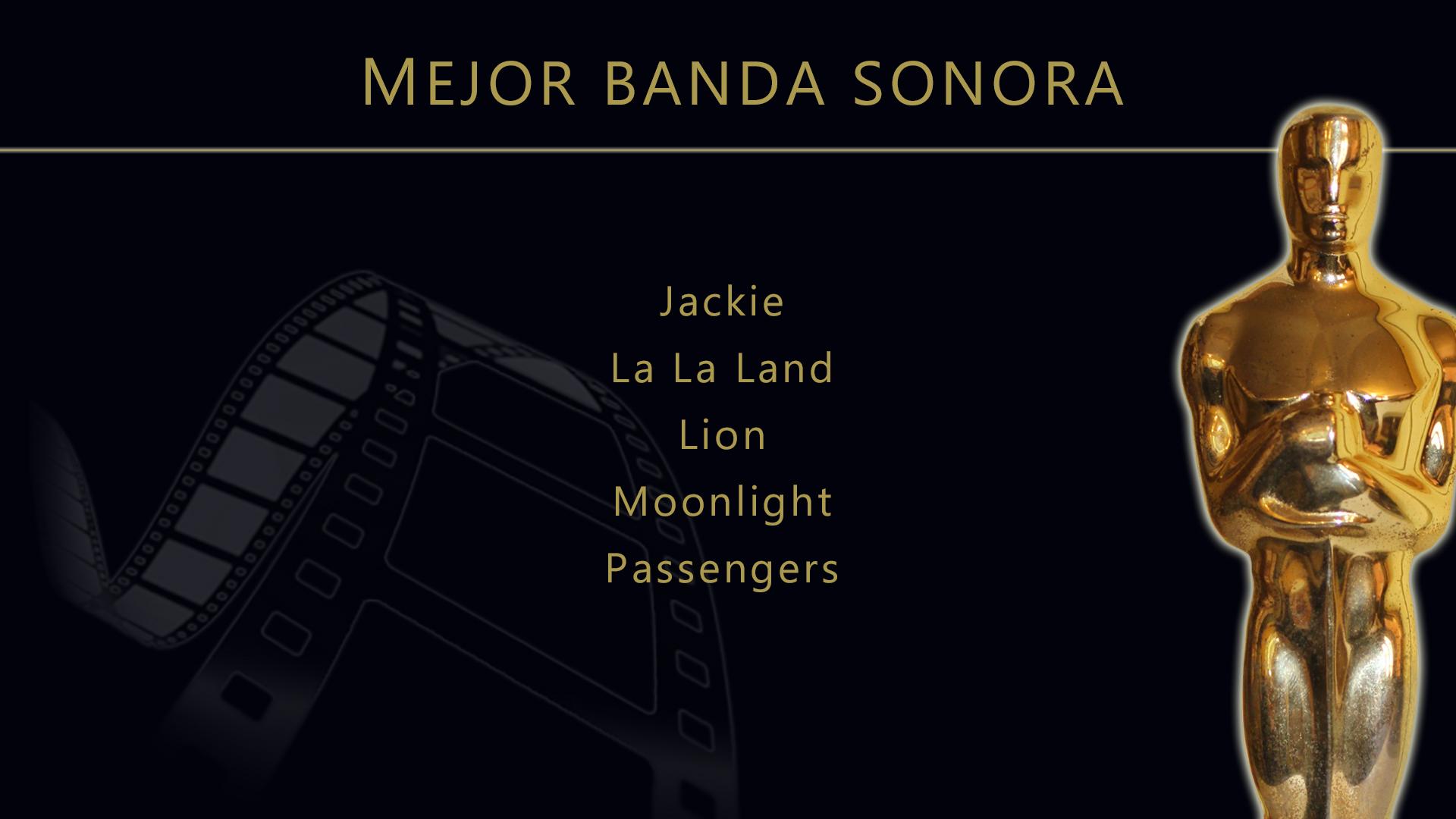 Resultado de imagen de nominaciones oscars  BANDA SONORA 2017