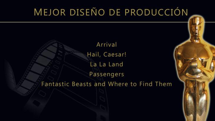 Oscares 2017 - lista de peliculas nominadas para mejor diseño de produccion