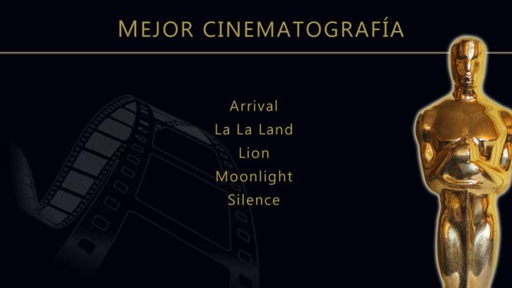 Oscares 2017 - lista de peliculas nominadas para mejor cinematografia