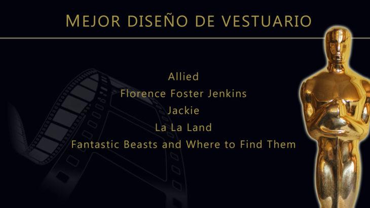 Oscares 2017 - lista de peliculas nominadas para mejor diseño de vestuario