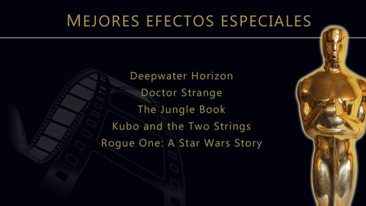 Oscares 2017 - lista de peliculas nominadas para mejores efectos especiales