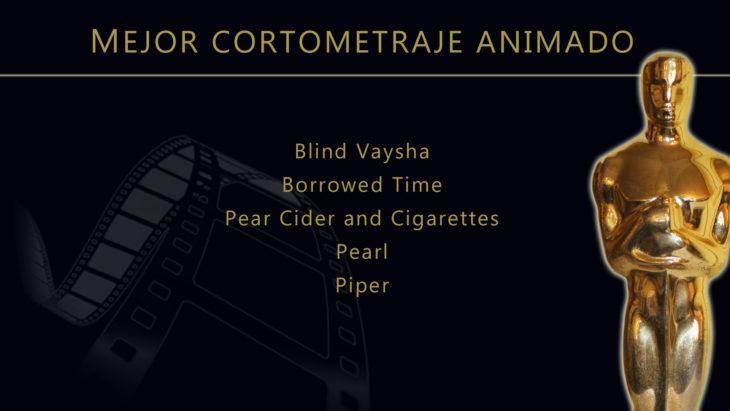 Oscares 2017 - lista de peliculas nominadas para mejor cortometraje animado
