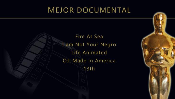 Oscares 2017 - lista de peliculas nominadas para mejor documental