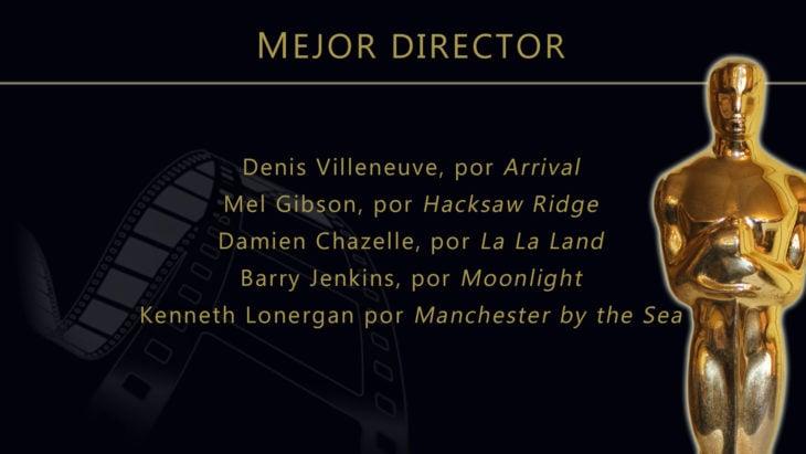 Oscares 2017 - lista de peliculas nominadas para mejor director