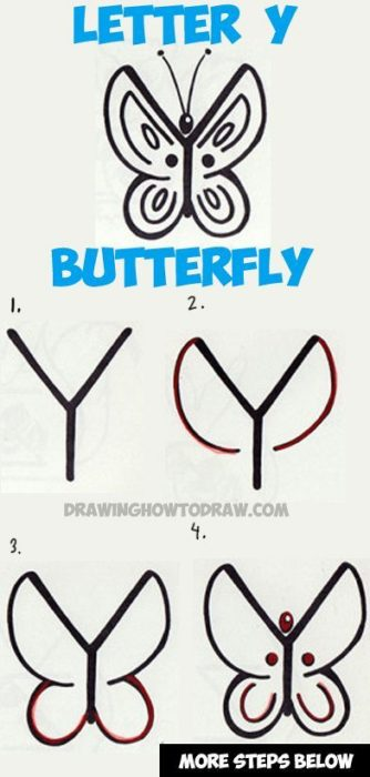 dibujar una mariposa