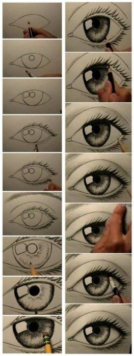 20 plantillas para dibujar ojos