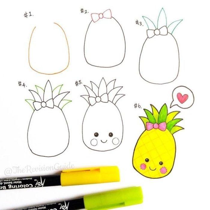 20 plantillas para dibujar piña