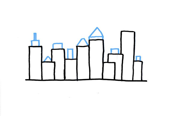 20 plantillas para dibujar skyline 1-2