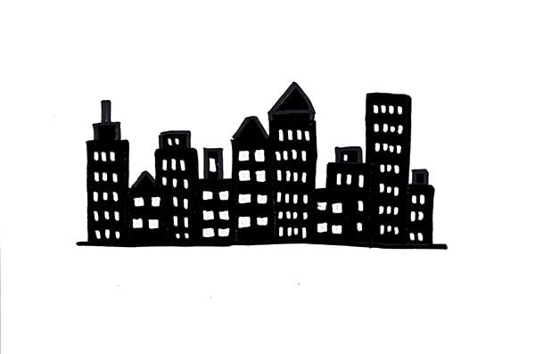 20 plantillas para dibujar skyline 2-2