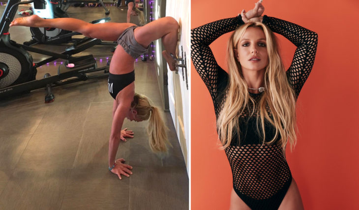 Britney spears se exercitando