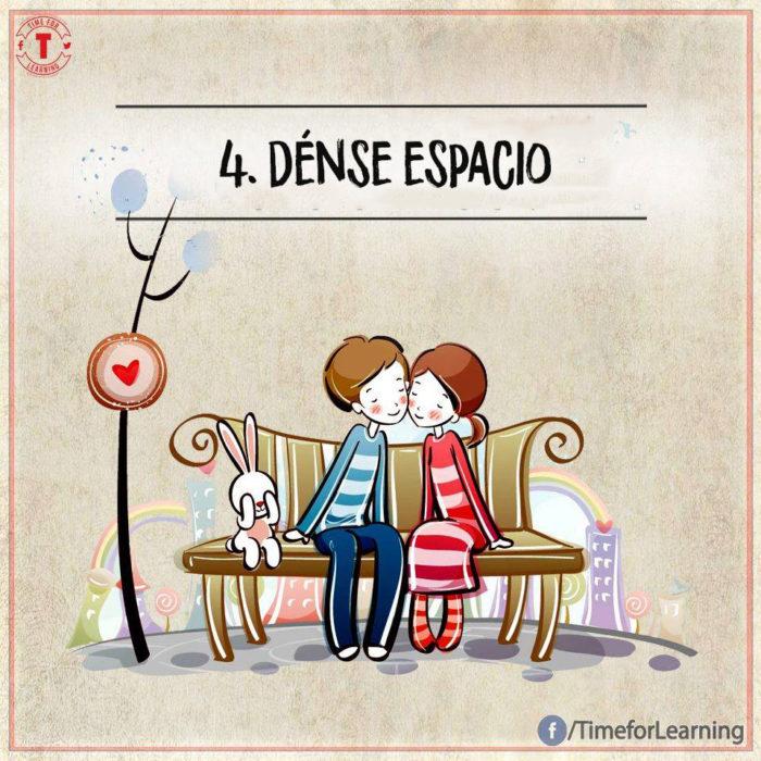 Ilustración amor - dense espacio