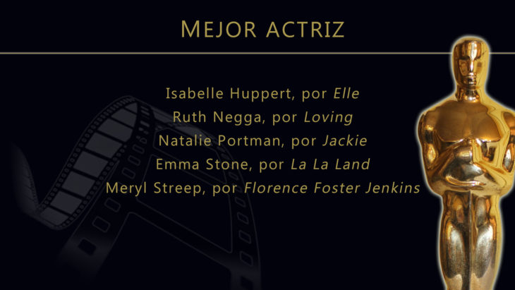 Oscares 2017 - lista de peliculas nominadas para mejor actriz