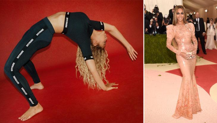 Beyonce haciendo se exercitando