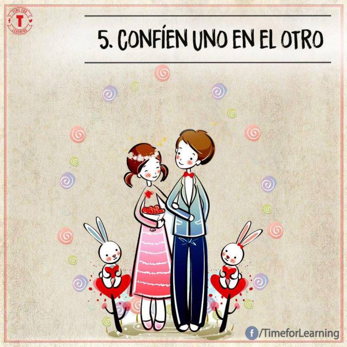 Ilustración amor - confíen