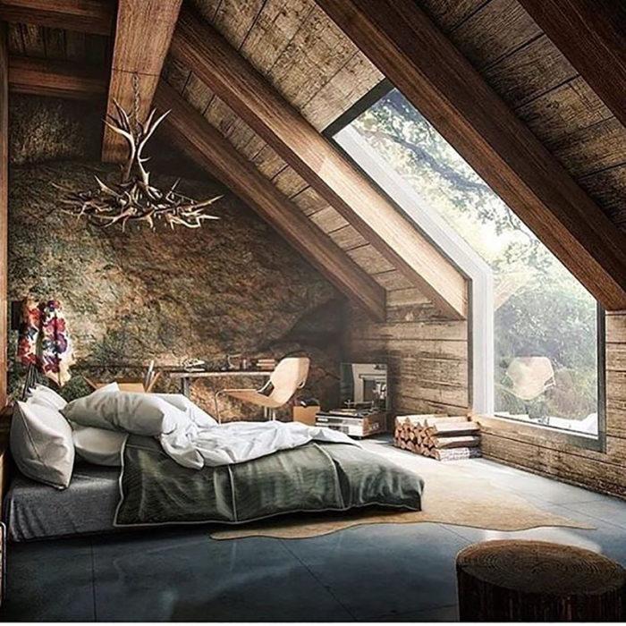 habitación rustica