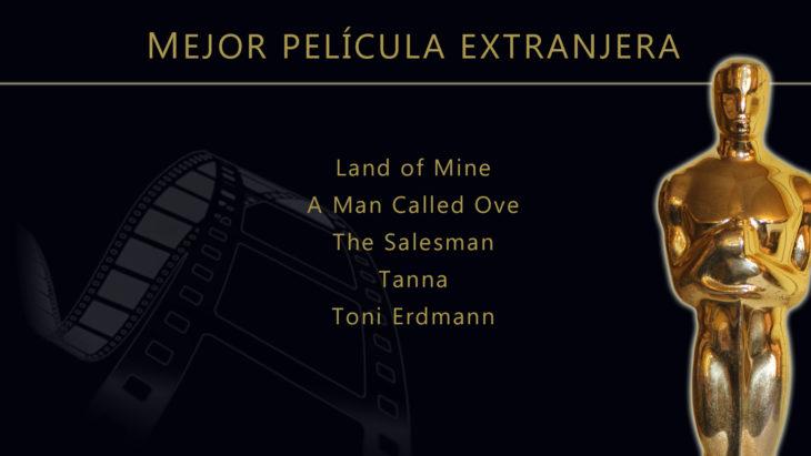 Oscares 2017 - lista de peliculas nominadas para mejor pelicula extranjera