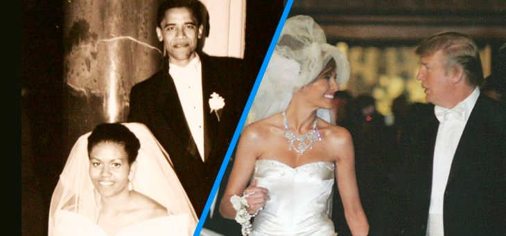 boda de michelle obama y trump y melania
